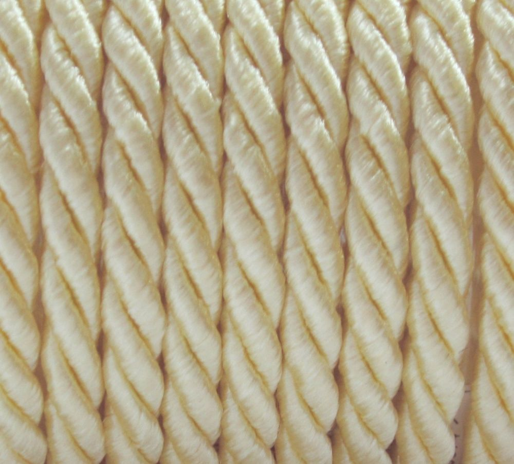 20 m Satinkordel 7 mm CREME