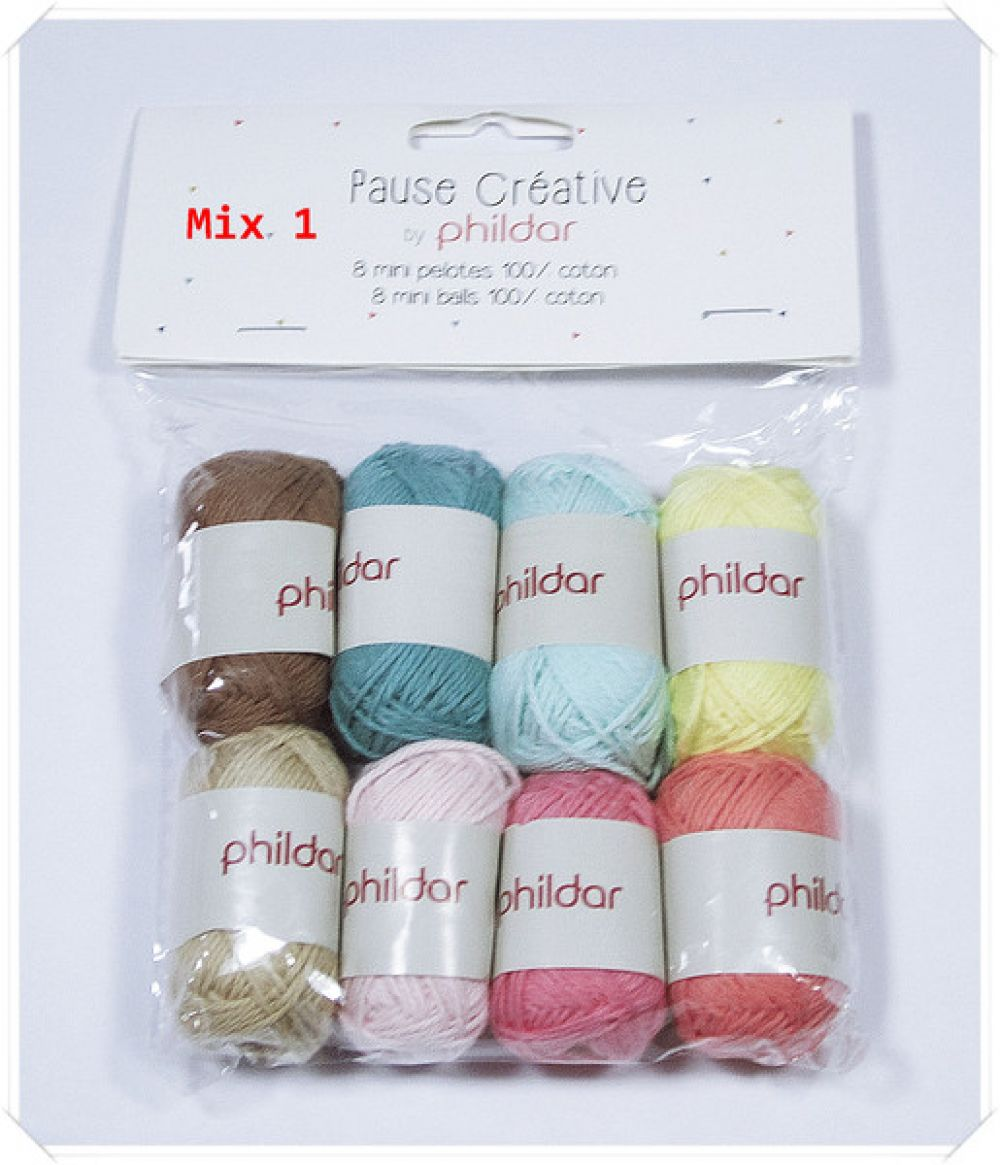 Phildar Creativ Mini Balls Farbenmix MIX 1